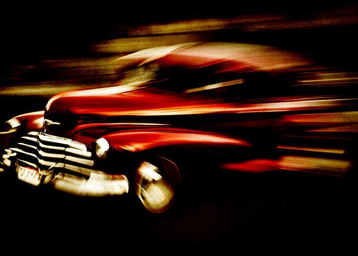 Custom Chevrolet Greeting Card featuring the photograph 1947 Red Chevrolet by Phil 'motography' Clark