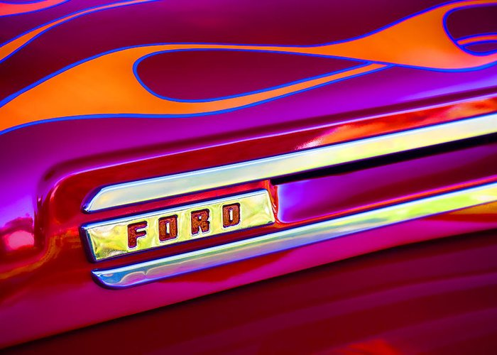 Hot Rod Flames Greeting Cards