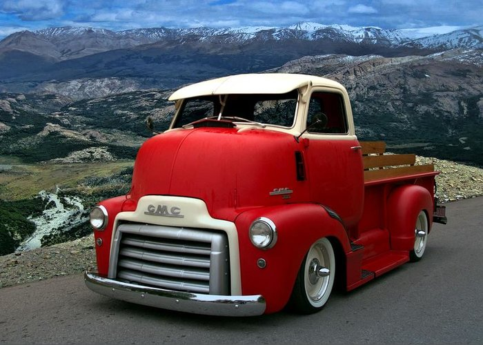 Cabover Trucks For Sale >> 1949 Gmc Cab Over Pickup Truck Greeting Card For Sale By Tim Mccullough