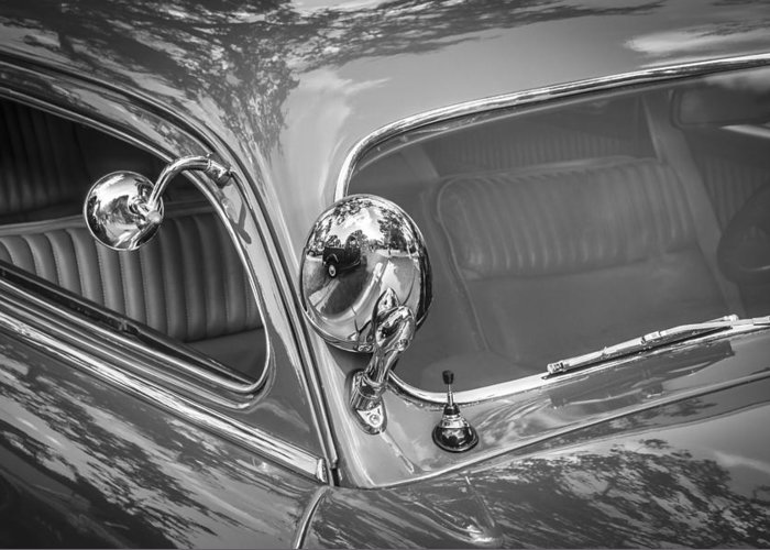 1949 Mercury Club Coupe Greeting Card featuring the photograph 1949 Mercury Club Coupe Bw  by Rich Franco