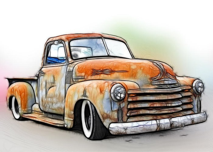 Chevy Truck Greeting Cards Fine Art America