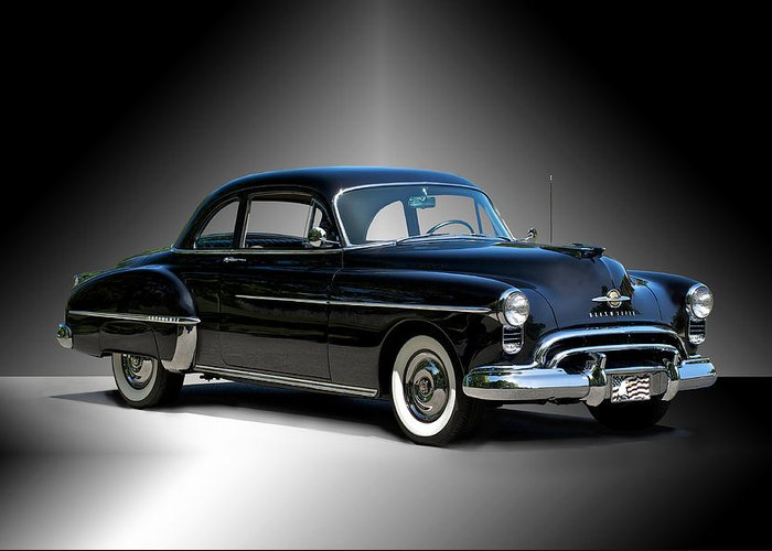 Auto Greeting Card featuring the photograph 1950 Oldsmobile 88 Deluxe Club Coupe I by Dave Koontz