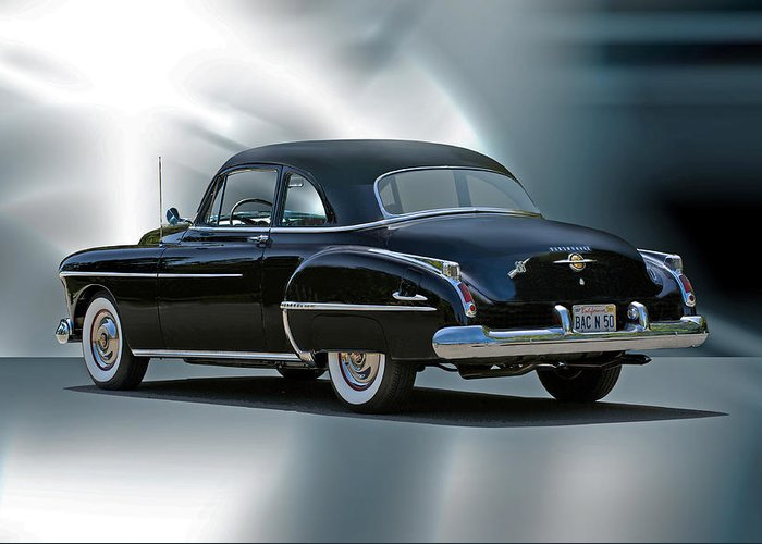 Auto Greeting Card featuring the photograph 1950 Oldsmobile 88 Deluxe Club Coupe II by Dave Koontz