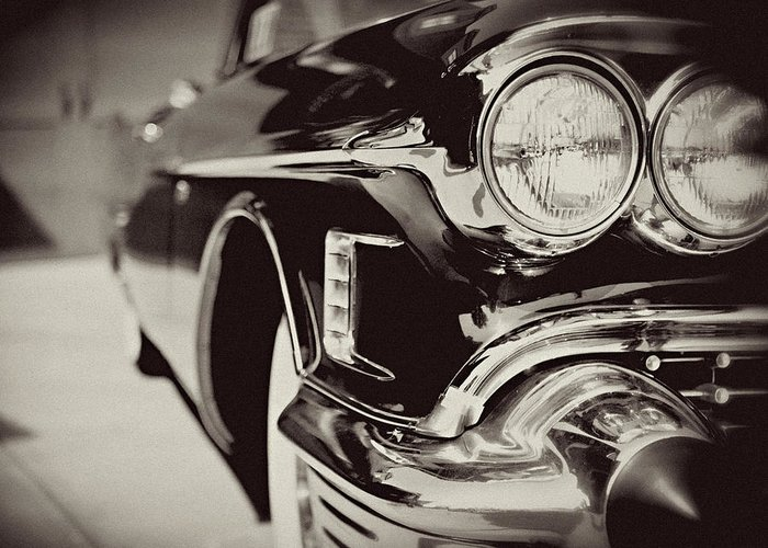 Lisa Russo Greeting Card featuring the photograph 1950s Cadillac No. 1 by Lisa Russo