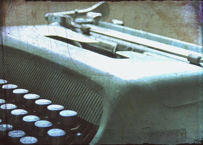 Olivetti Typewriter Greeting Card featuring the photograph 1952 Olivetti Typewriter by Georgia Fowler