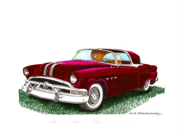 Classic Car Art Greeting Card featuring the painting 1953 Pontiac Parisienne Concept by Jack Pumphrey
