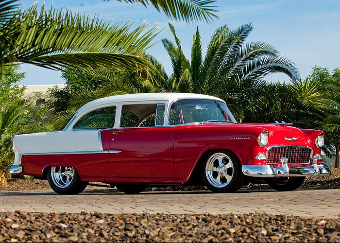 1955 Chevrolet 210 Greeting Card featuring the photograph 1955 Chevrolet 210 by Jill Reger