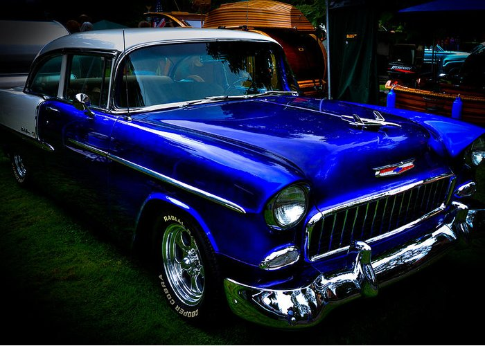 55 Greeting Card featuring the photograph 1955 Chevy Bel Air by David Patterson