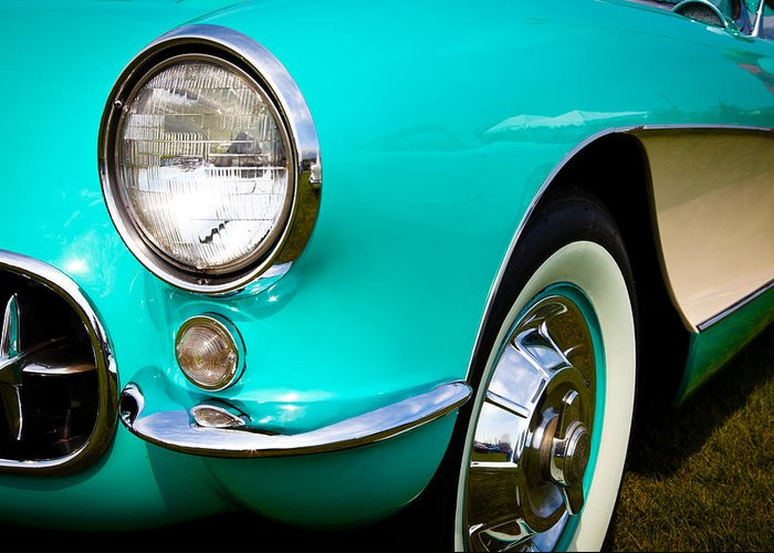 56 Greeting Card featuring the photograph 1956 Chevy Corvette by David Patterson