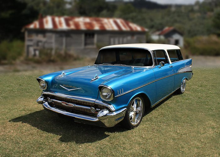 1957 Chevy Nomad Wagon Greeting Card