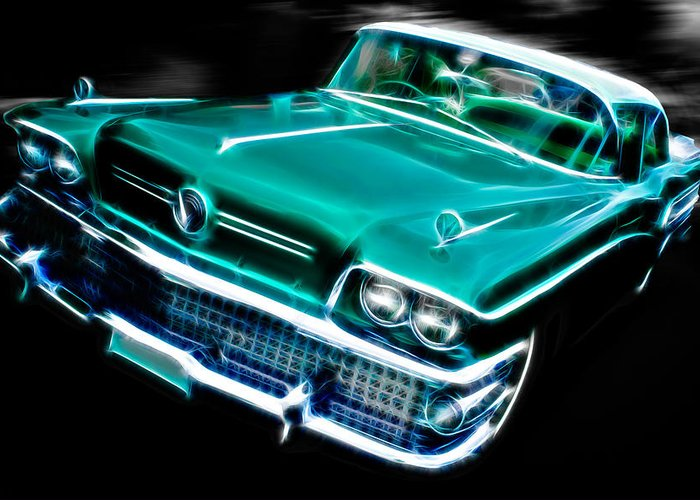 Custom Buick Greeting Card featuring the photograph 1958 Buick Special by Phil 'motography' Clark