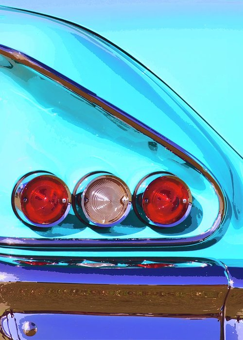 Palm Springs Greeting Card featuring the photograph 1958 Impala Palm Springs by William Dey