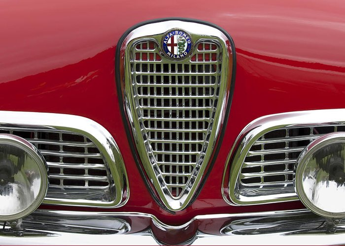 1959 Alfa Romeo Giulietta Sprint Grille Greeting Card For Sale By