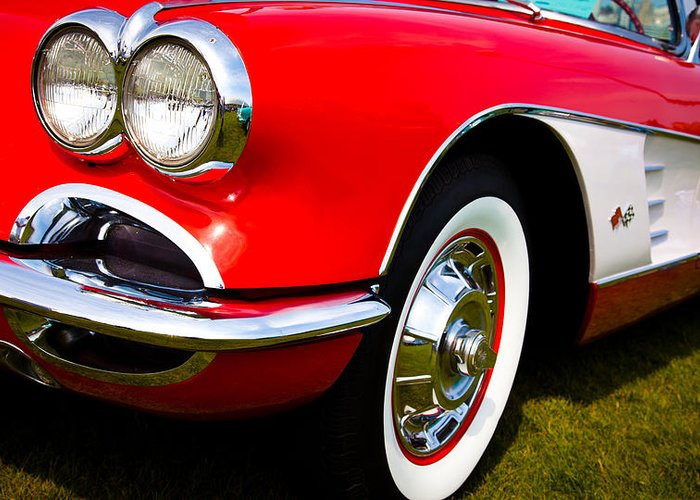 59 Greeting Card featuring the photograph 1959 Chevy Corvette by David Patterson