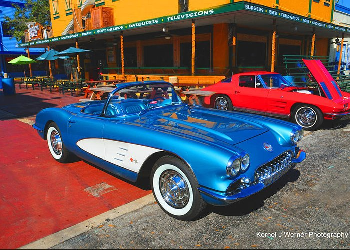 Corvette Greeting Card featuring the photograph 1960 Corvette by Kornel J Werner
