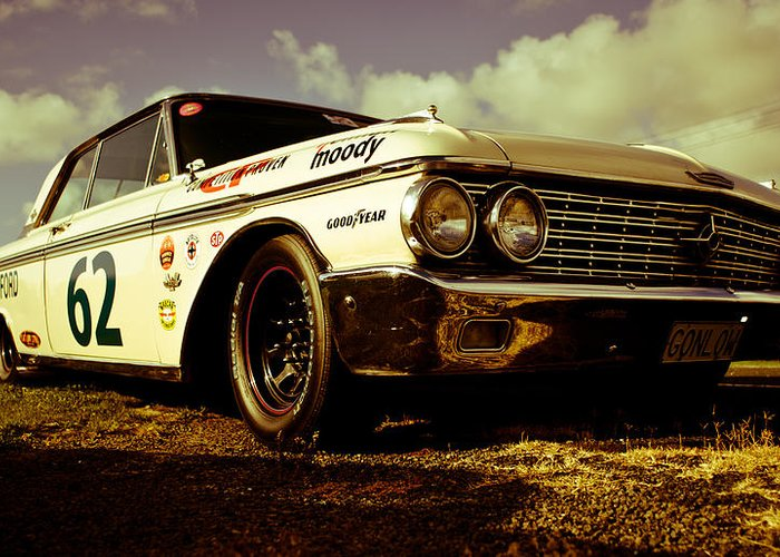 Historic Nascar Greeting Card featuring the photograph 1962 Ford Galaxie 500 by Phil 'motography' Clark