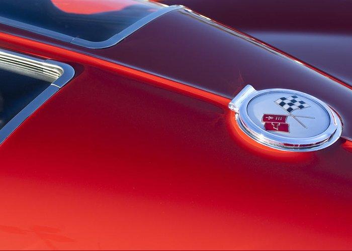 1963 Chevrolet Corvette Greeting Card featuring the photograph 1963 Chevrolet Corvette Split Window by Jill Reger