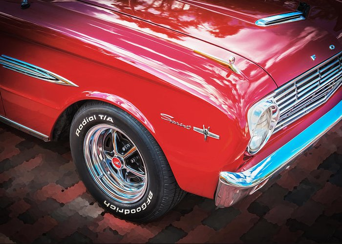 1963 Ford Falcon Sprint Greeting Card featuring the photograph 1963 Ford Falcon Sprint Convertible by Rich Franco