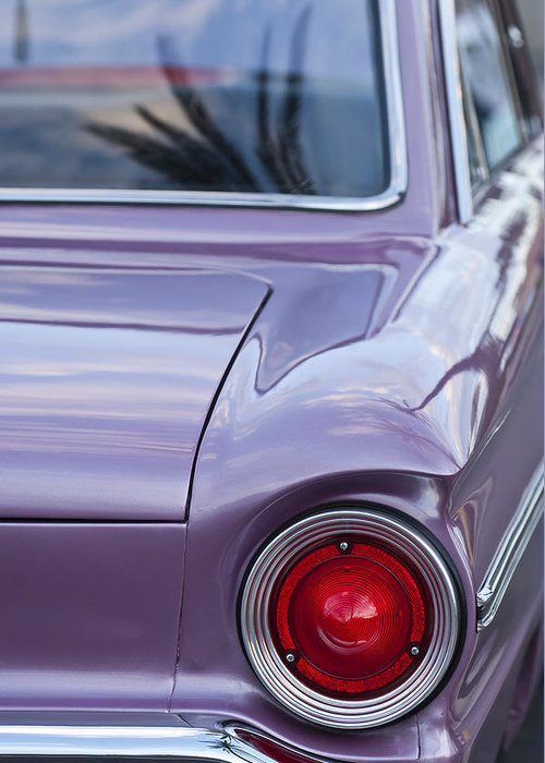 1963 Ford Falcon Greeting Card featuring the photograph 1963 Ford Falcon Tail Light by Jill Reger