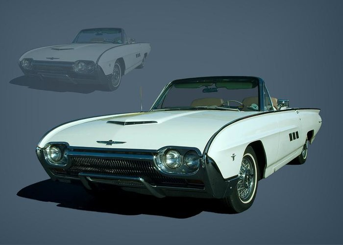 1963 Greeting Card featuring the photograph 1963 Ford Thunderbird Convertible by Tim McCullough