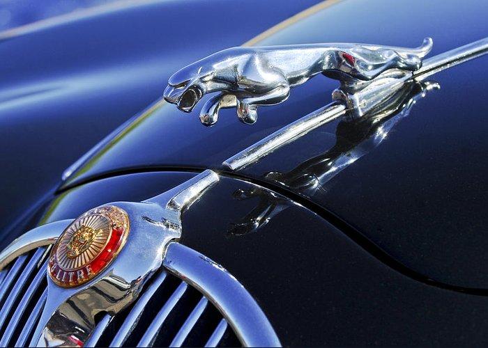 Transportation Greeting Card featuring the photograph 1964 Jaguar Mk2 Saloon by Jill Reger