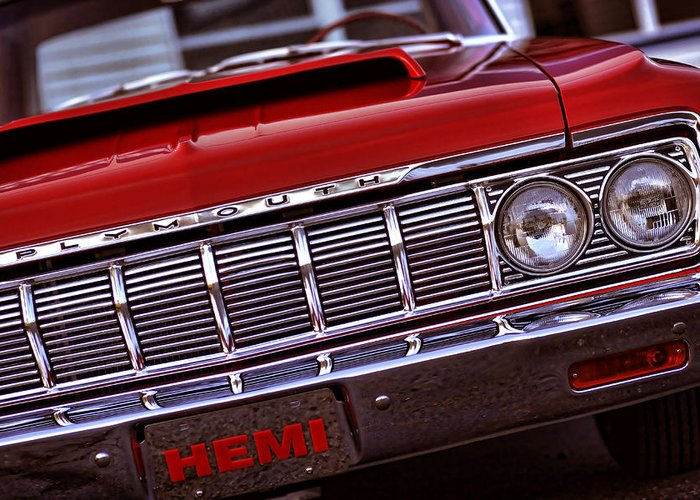 1964 Greeting Card featuring the photograph 1964 Plymouth Savoy by Gordon Dean II