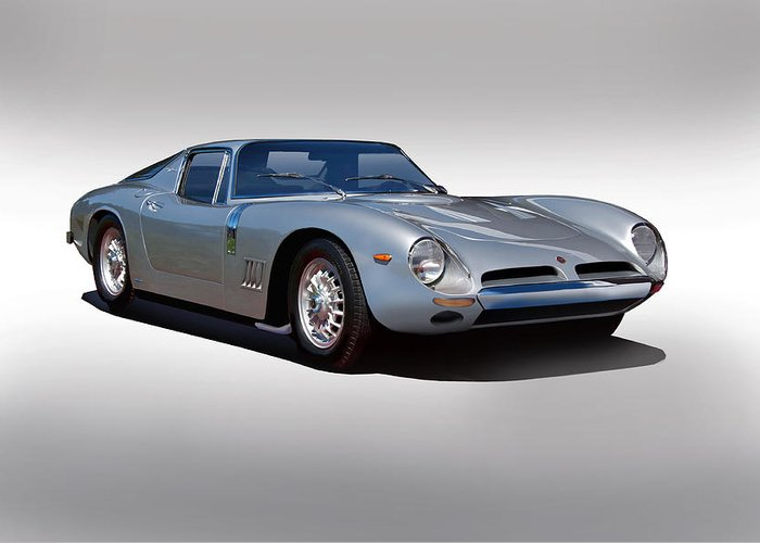 Auto Greeting Card featuring the photograph 1966 Bizzarrini Gt by Dave Koontz