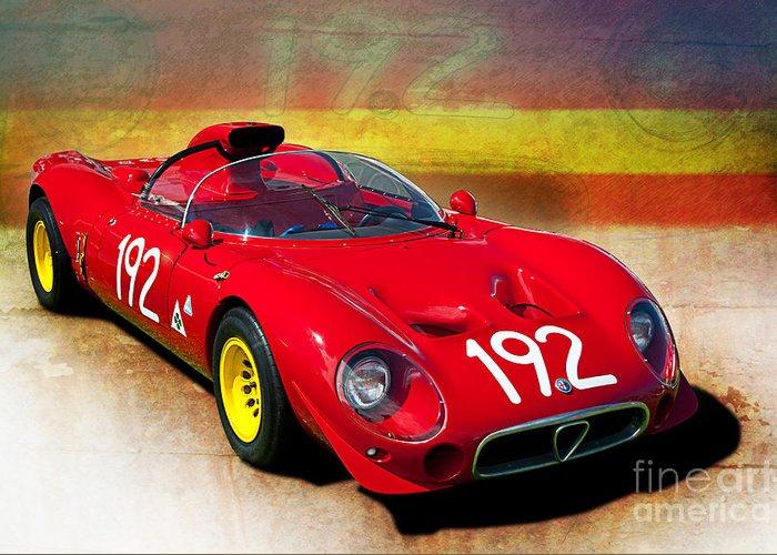 Alfa Romeo Tipo Periscopica Spyder Greeting Card For Sale - Alfa romeo spyder for sale