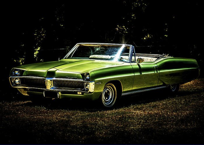 Pontiac Bonneville Greeting Card featuring the photograph 1967 Pontiac Bonneville by motography aka Phil Clark