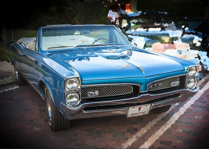 1967 Pontiac Gto Greeting Card featuring the photograph 1967 Pontiac Gto by Rich Franco