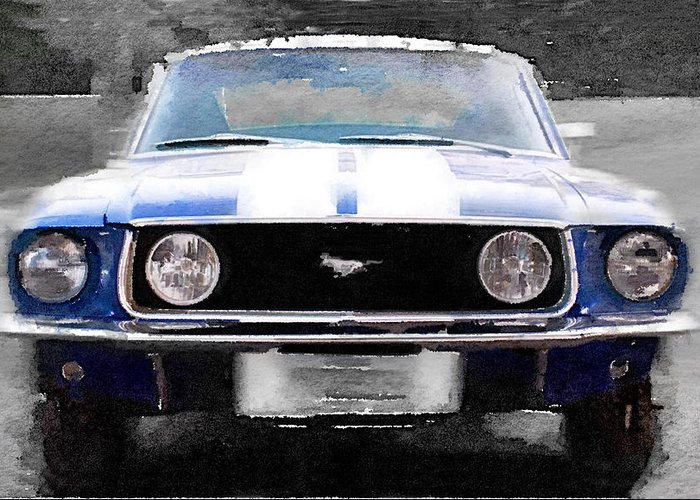 Classic Mustang Car Greeting Cards