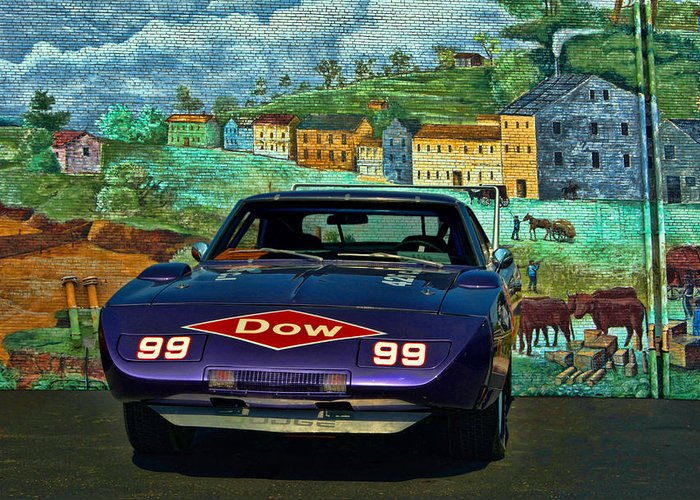 1969 Dodge Greeting Card featuring the photograph 1969 Dodge Daytona Stock Car Replica by Tim McCullough