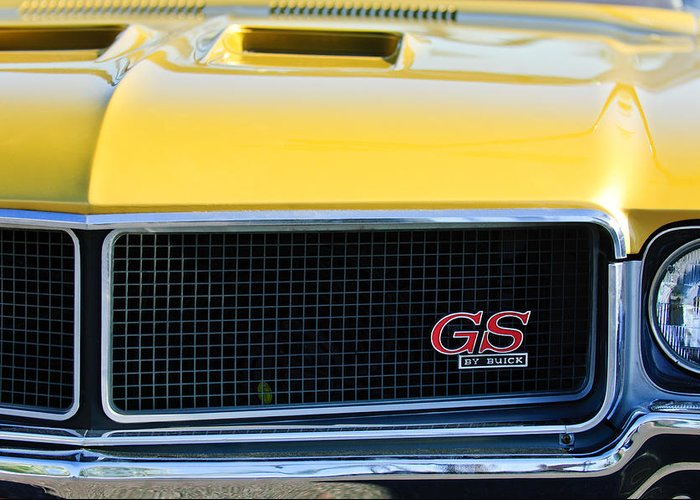 1970 Buick Gs Grille Emblem Greeting Card featuring the photograph 1970 Buick Gs Grille Emblem by Jill Reger