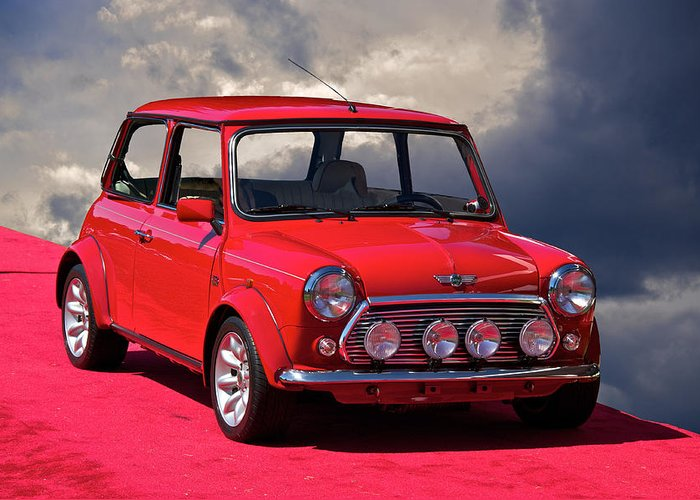 Auto Greeting Card featuring the photograph 1970 Morris Mini Cooper by Dave Koontz