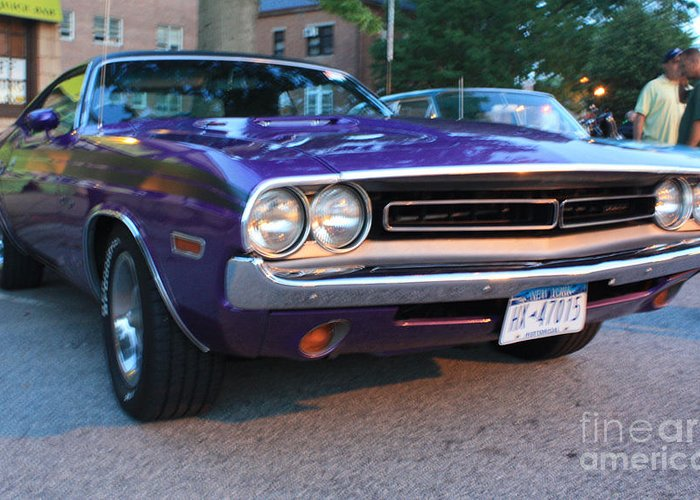 1971 Challenger Front And Side View Greeting Card featuring the photograph 1971 Challenger Front And Side View by John Telfer