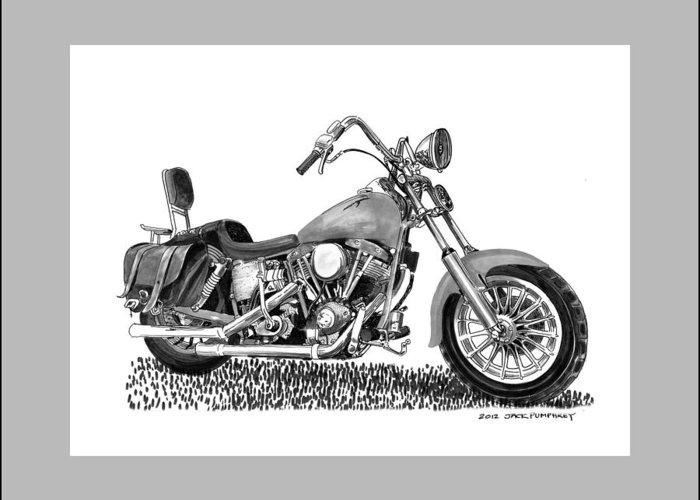 1971 Harley Davidson S O A Shovel Head F L Greeting Card