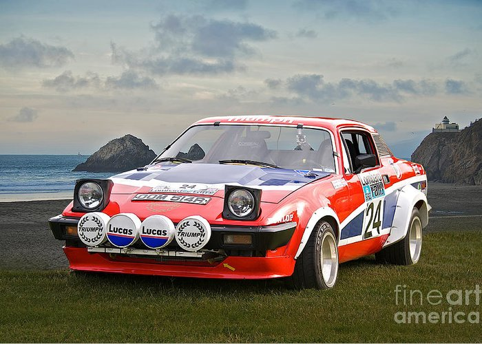 1976 Triumph Tr7 V8 Rally Car Greeting Card For Sale By Dave Koontz