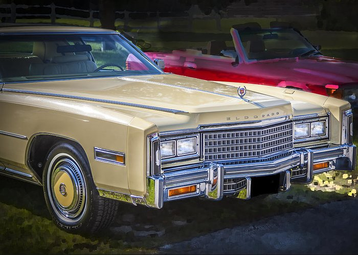 1978 Cadillac Greeting Card featuring the photograph 1978 Cadillac Eldorado by Rich Franco