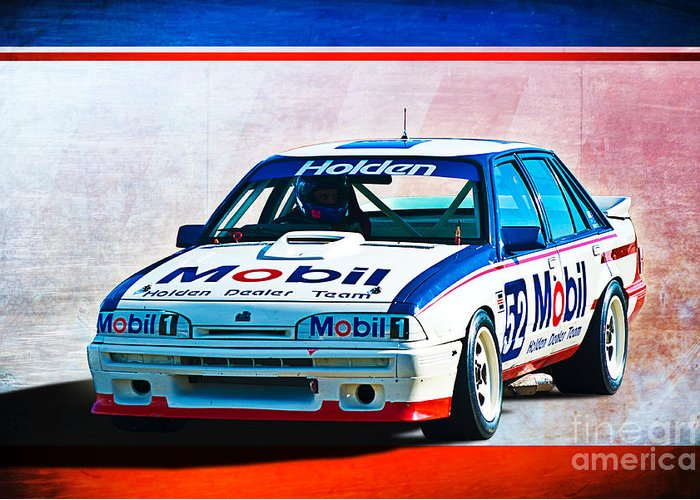 1987 Greeting Card featuring the photograph 1987 Vl Commodore Group A by Stuart Row