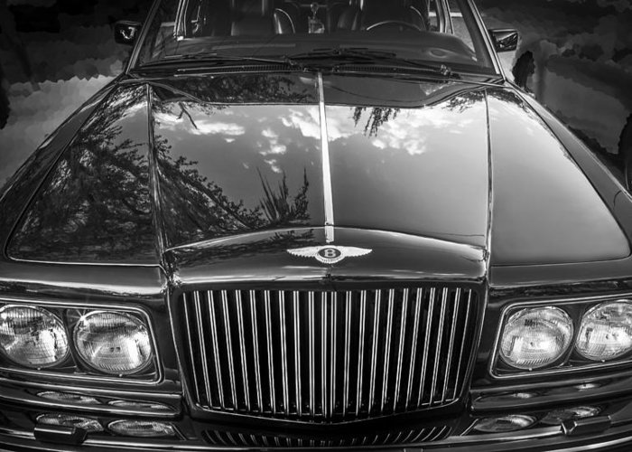 1990 Bentley Greeting Card featuring the photograph 1990 Bentley Turbo R by Rich Franco