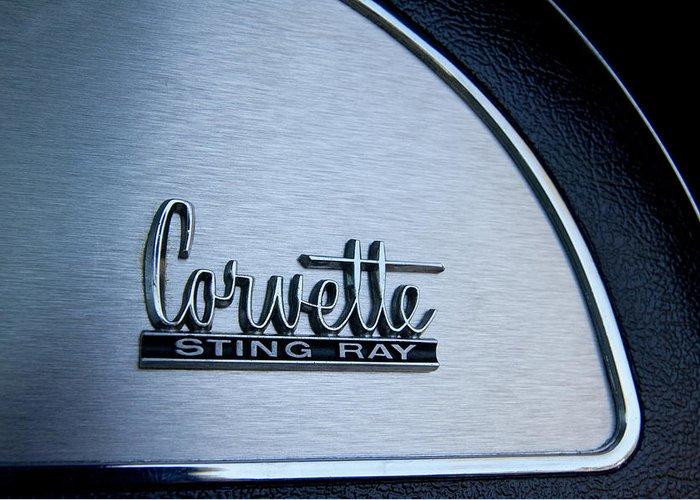 1967 Chevrolet Corvette Glove Box Emblem Greeting Cards