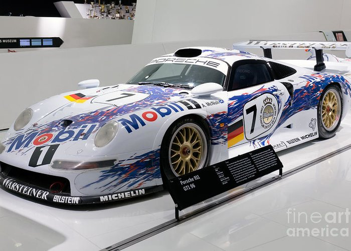 3d Greeting Card featuring the photograph 1998 Porsche 911 Gt1 by Paul Fearn