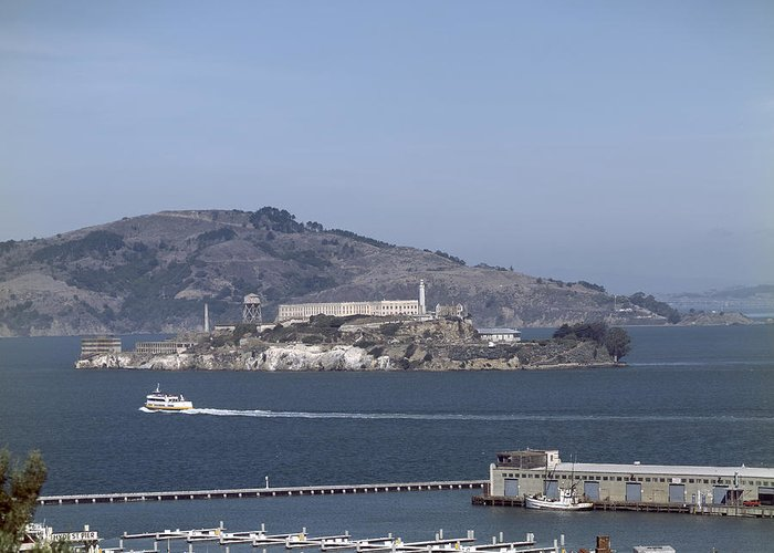 1990s Greeting Card featuring the photograph Alcatraz, C1998 by Granger