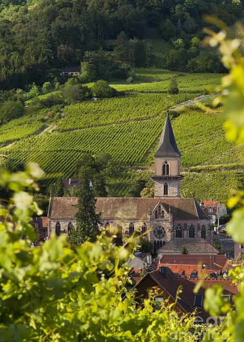 Ribeauville Greeting Card featuring the photograph Alsace Church by Brian Jannsen