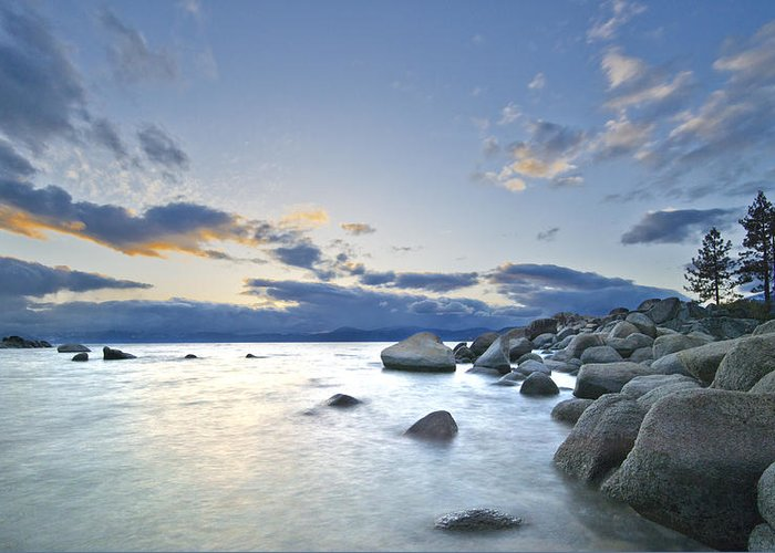 Lake Tahoe Greeting Card featuring the photograph An Evening At Tahoe by Dianne Phelps