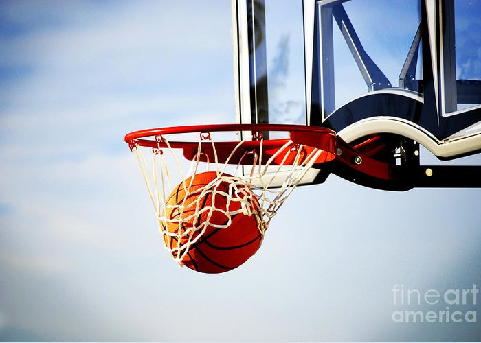 Rule Greeting Card featuring the photograph Basketball Shot by Lane Erickson