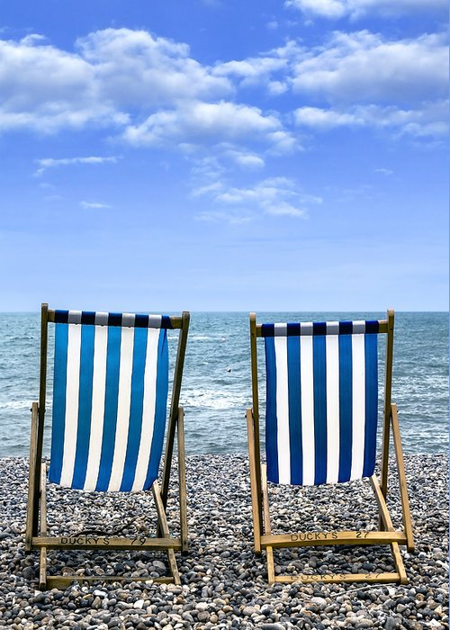 Beach Greeting Card featuring the photograph Beach Chairs by Joana Kruse