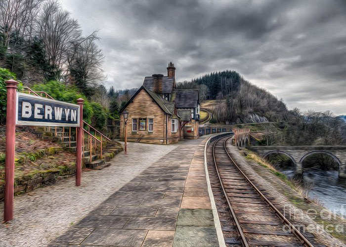 Arch Greeting Card featuring the photograph Berwyn Railway Station by Adrian Evans