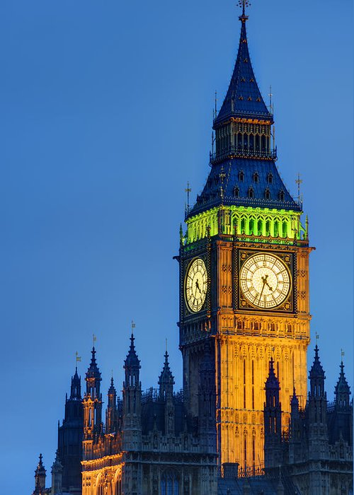 London Greeting Card featuring the photograph Big Ben London by Matthew Gibson