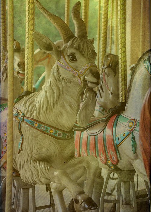 Carousels Greeting Card featuring the photograph Billy Goat Gruff by Jan Amiss Photography